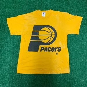 Vintage Logo Athletics Indiana Pacers Tee Size L